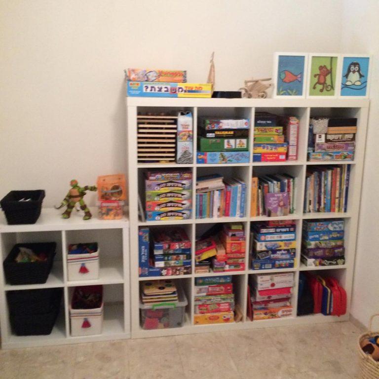 סידור ארונות וצעצועים בחדרי ילדים לאחר מעבר דירה